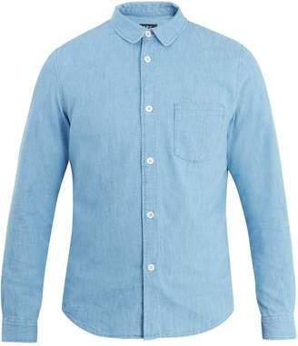 A.P.C. Patch-pocket cotton-chambray shirt