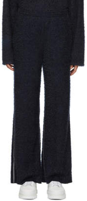 Maison Margiela Blue Sparkling Knit Lounge Pants