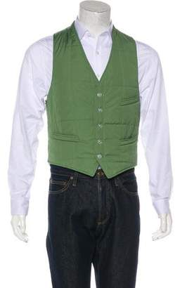 Band Of Outsiders Quilted V-Neck Vest