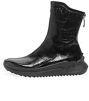 Balmain Women's Patent Leather Ankle Boots