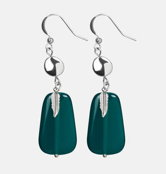 Avenue Blue Stone Leaf Earrings