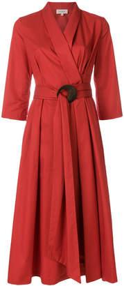 Isa Arfen midi wrap dress