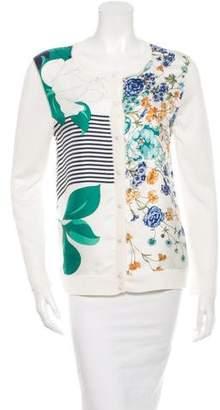 Nina Ricci Floral Silk Cardigan