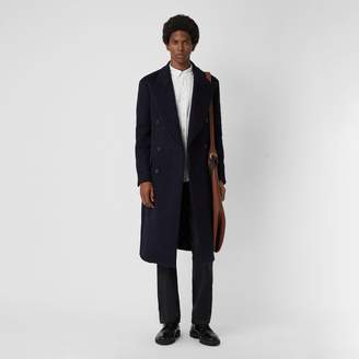 Burberry Double-faced Cashmere Tailored Coat , Size: 46, Blue