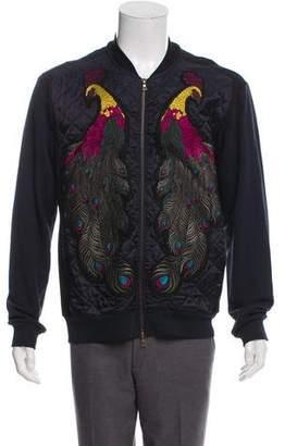 Dries Van Noten Woven Zip-Up Jacket