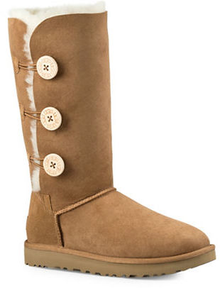 UGG Ugg Classic Bailey Button Triplet II Leather Winter Boots