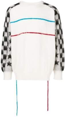 Facetasm contrasting sleeves jumper