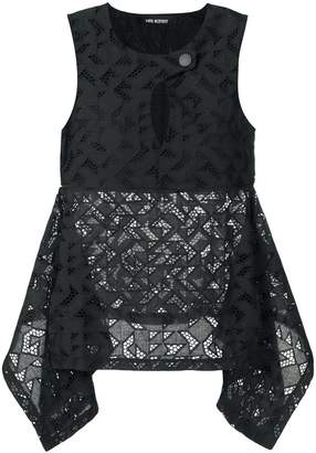 Neil Barrett Sangallo Lace top