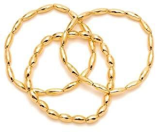 Gorjana Nora 18K Gold Plated Beaded Bracelets - Set of 3