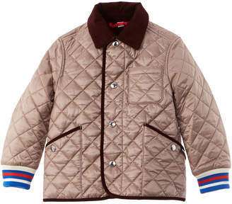 Burberry Corduroy Diamond Quilted Jacket