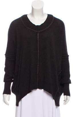 AllSaints Chain-Accented Knit Sweater