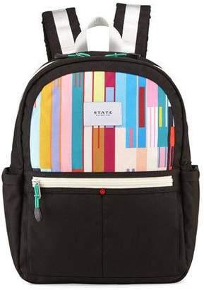 State Bags Kane Black & Custom Stripe Backpack $60 thestylecure.com