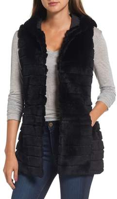 Love Token Genuine Rabbit Fur Hooded Vest