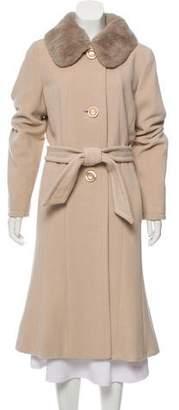 Max Mara Fur-Trim Wool Coat