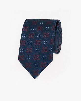 Le Château Floral Print Microfibre Skinny Tie