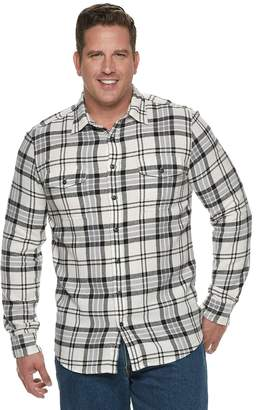 Sonoma Goods For Life Big & Tall SONOMA Goods for Life Supersoft Flannel Button-Down Shirt