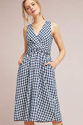 4OUR Dreamers Grecca Gingham Midi Dress