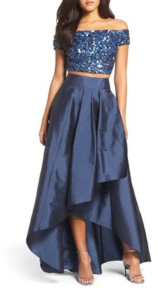 Women's Adrianna Papell Two-Piece Ballgown $299 thestylecure.com