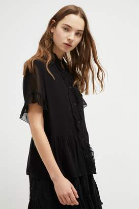 French Connenction Clandre Light Ruffle Blouse