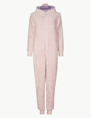 at marks and spencer a m s collection fleece unicorn long sleeve onesie