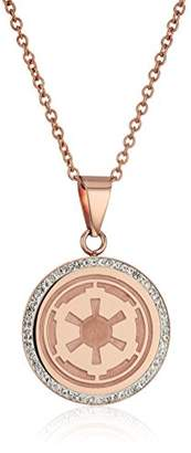 Star Wars Jewelry Imperial -Plated with Cubic Zirconia Pendant Necklace