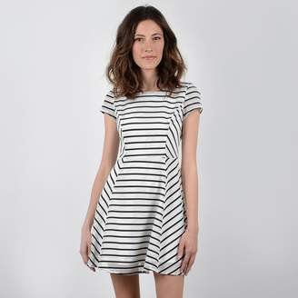 5e65df269f0a at La Redoute · Molly Bracken Short Striped Skater Dress