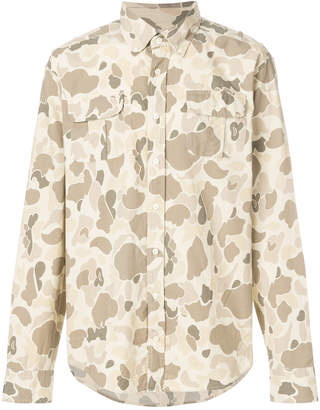Michael Bastian Gant By camouflage print shirt