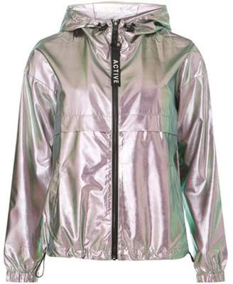 Dorothy Perkins Womens **Only Silver Hooded Parka Coat
