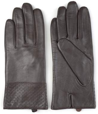 Journee Collection Women's Microfiber-Lined Leather Gloves