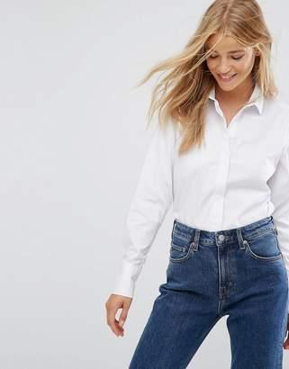 New Look White Work Shirt