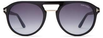 Tom Ford Aviator Acetate Sunglasses - Mens - Black