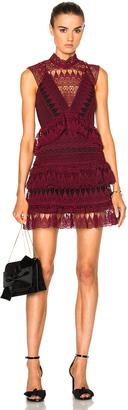 self-portrait Teardrop Guipere Paneled Mini Dress $555 thestylecure.com