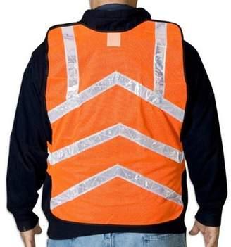 50-pack Ironwear Hi Vis Safety Vests - Neon Orange Mesh with Reflective Stripe