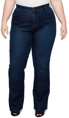 Boutique + + Curvy Fit Slim Bootcut Jeans - Plus