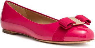 Salvatore Ferragamo Varina fuchsia patent leather ballerinas