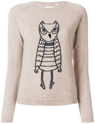 Parker Chinti & cashmere owl outline sweater
