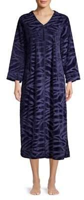 Miss Elaine Printed Tassel-Zip Robe