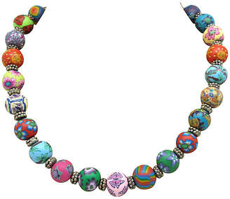One Kings Lane Vintage Colorful Clay Bead Necklace