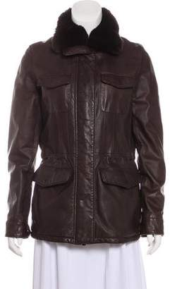 Loro Piana Fur-Trimmed Leather jacket
