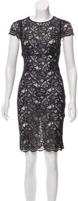 L'Agence Metallic Lace Dress