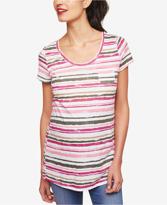 Motherhood Maternity Striped Pocket T-Shirt