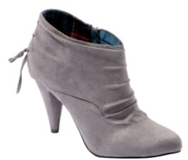 Grey Faux Suede Hillary Bootie