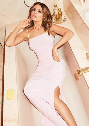 bb77978222c Missy Empire Missyempire Daphne Pink Ruched Detail Maxi Dress