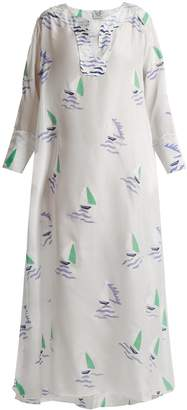 Thierry Colson Rock the Boat printed maxi dress