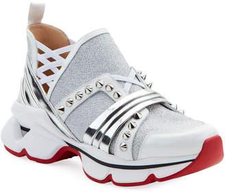Christian Louboutin 123 Run Red Sole Sneakers