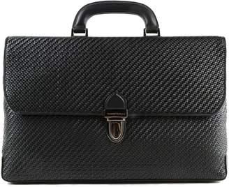 Ermenegildo Zegna Pelle Tessuta Briefcase