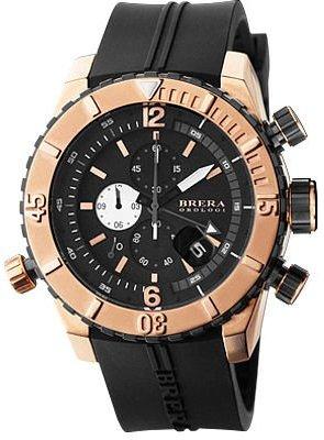 Brera Orologi – Sottomarino Diver – ブラック/ローズゴールド