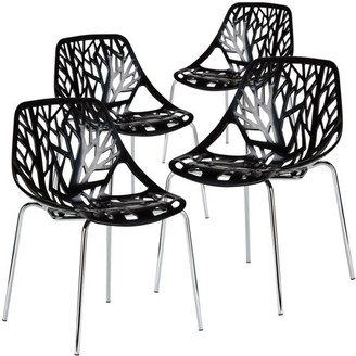 Poly and Bark Birds Nest Dining Side Chair (Set of 4), Multiple colors