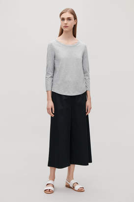Cos SLEEVED COTTON T-SHIRT