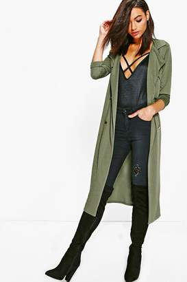 boohoo Molly Double Breasted Midi Trench $30 thestylecure.com